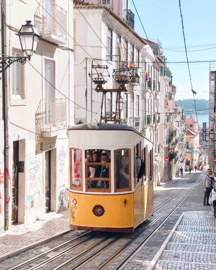 Ascensor da Bica, Lisbon, Portugal | Through Kelsey's Lens