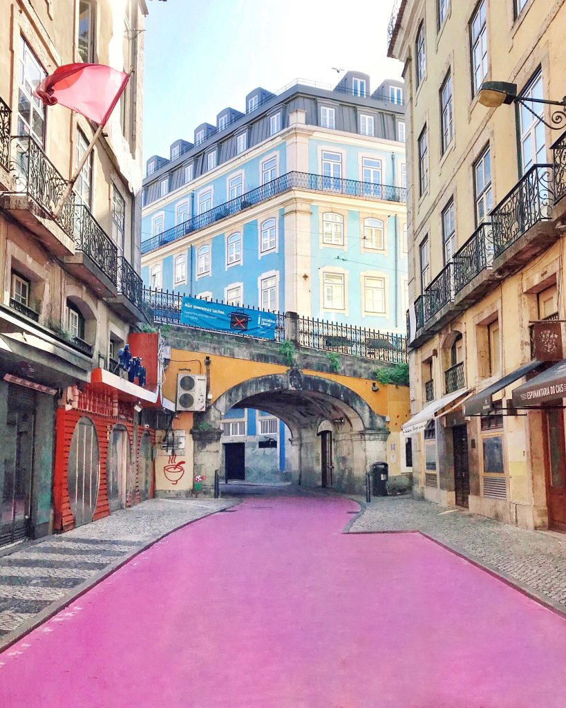 Pink Street, Lisbon, Portugal | Through Kelsey's Lens