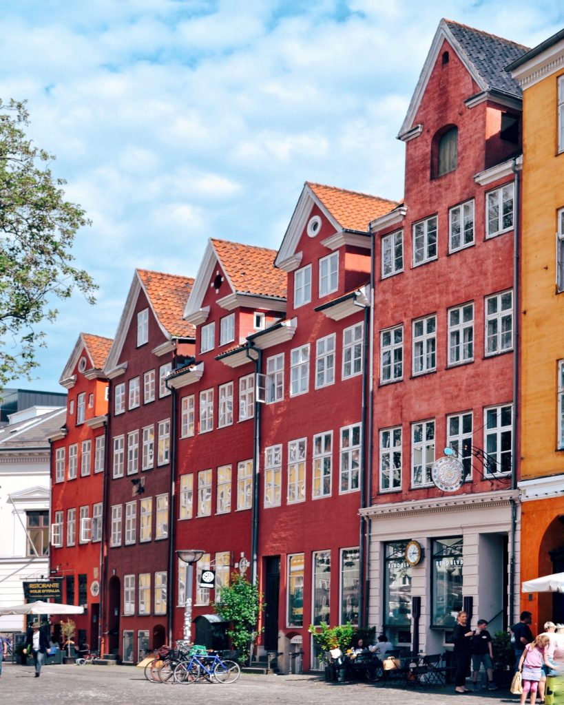 Red houses in Copenhagen, Denmark