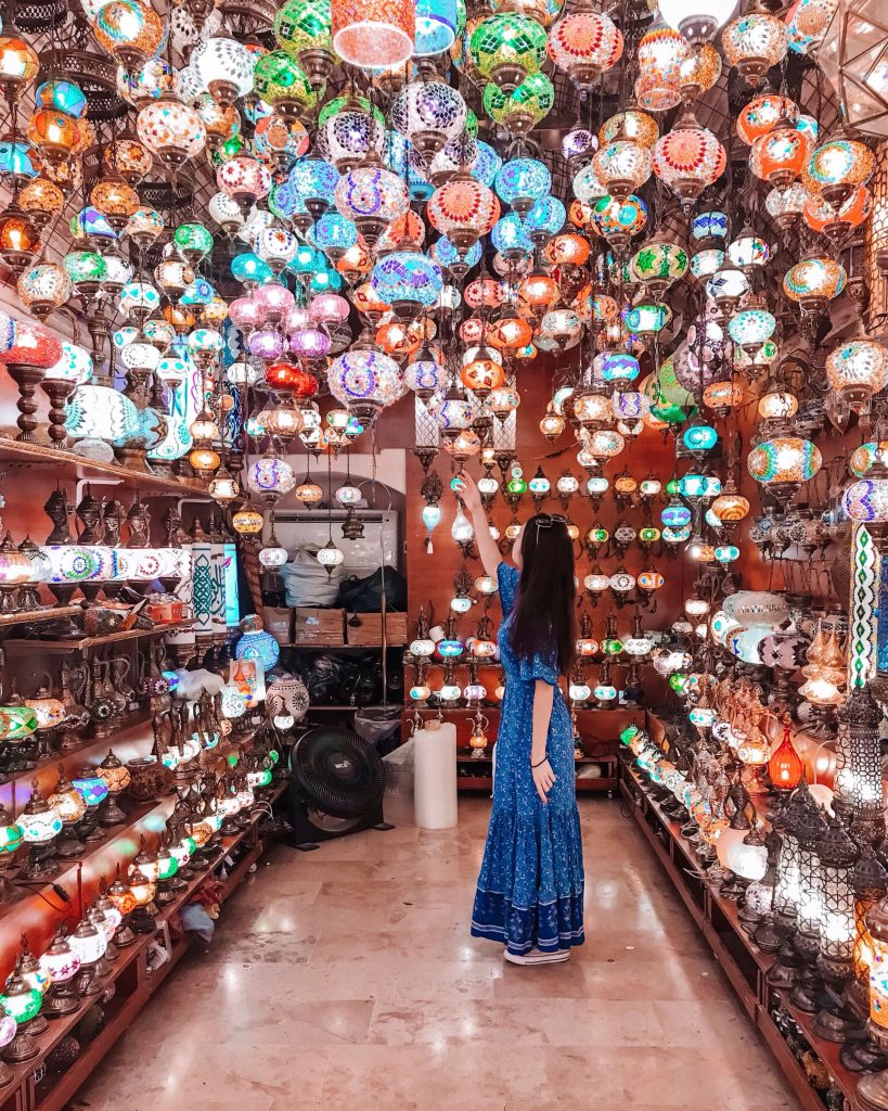 Lamp Shop in Istanbul Turkey | Through Kelsey's Lens