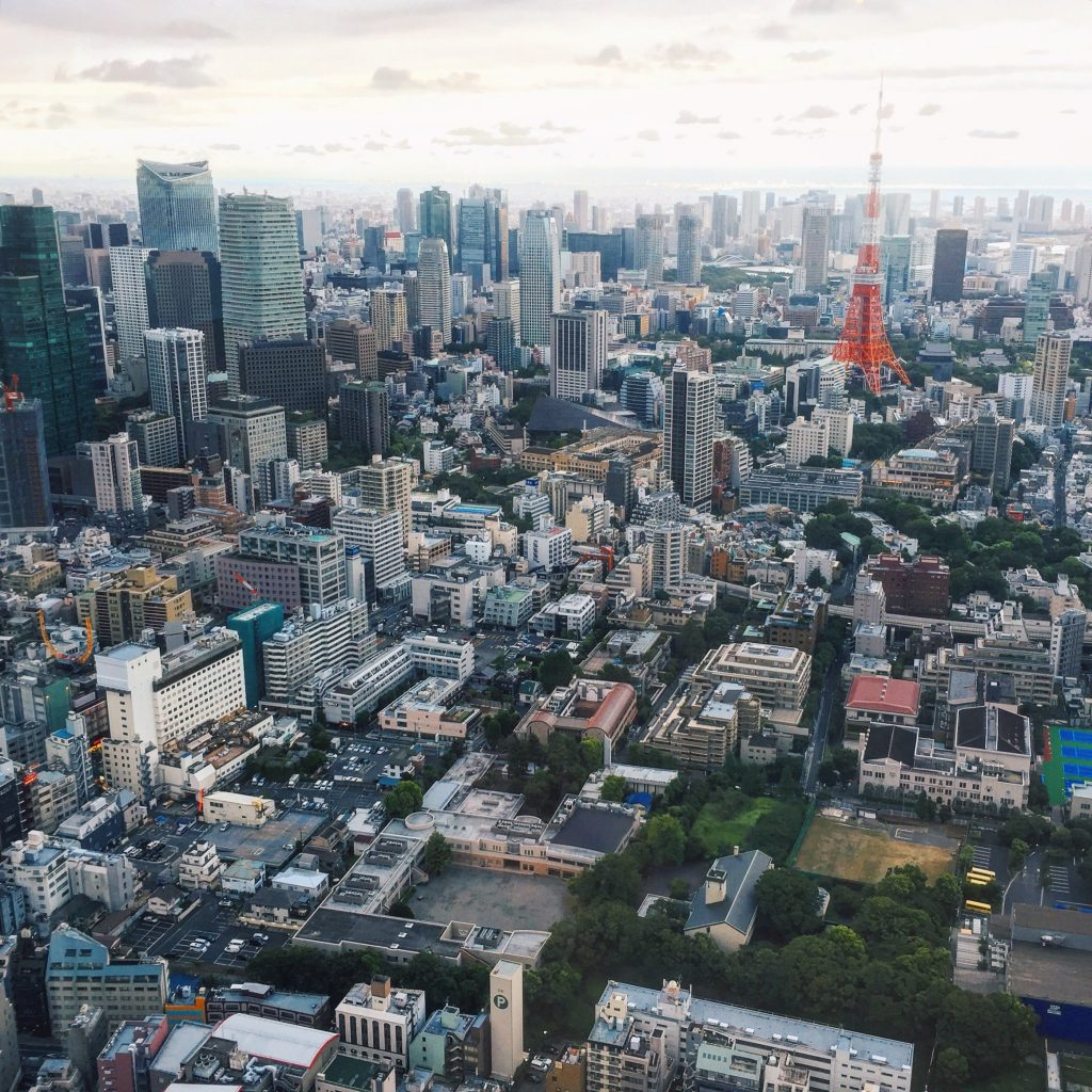 View of the Tokyo Skyline