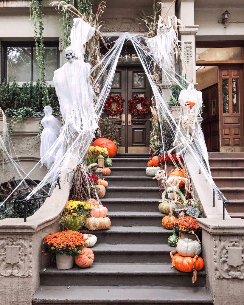 Upper West Side Halloween decorations