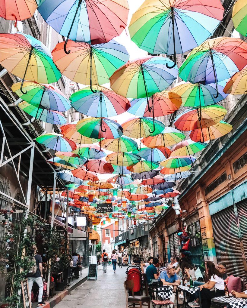 Karakoy Umbrellas | Through Kelsey's Lens