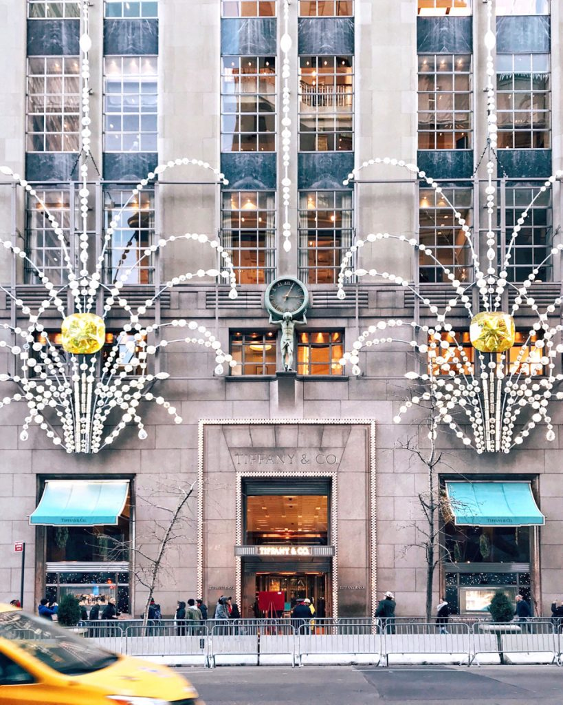 Tiffany & Co Christmas Decorations, NYC