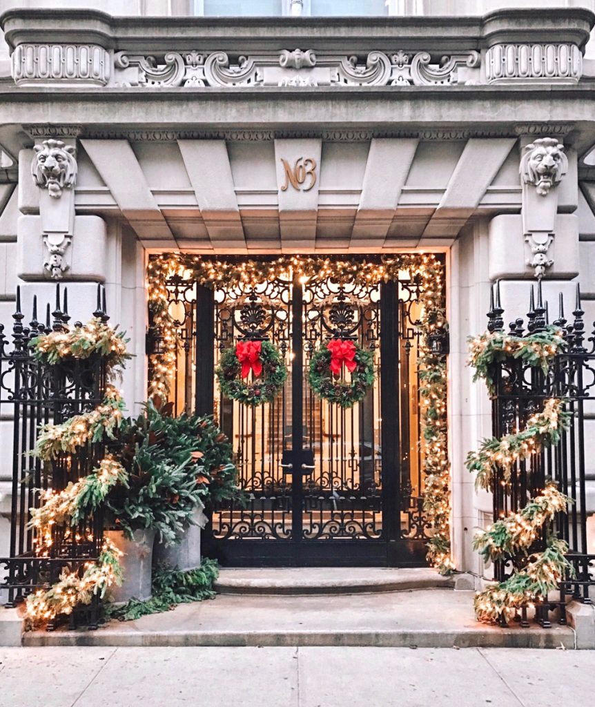 Upper East Side Christmas Decorations, NYC