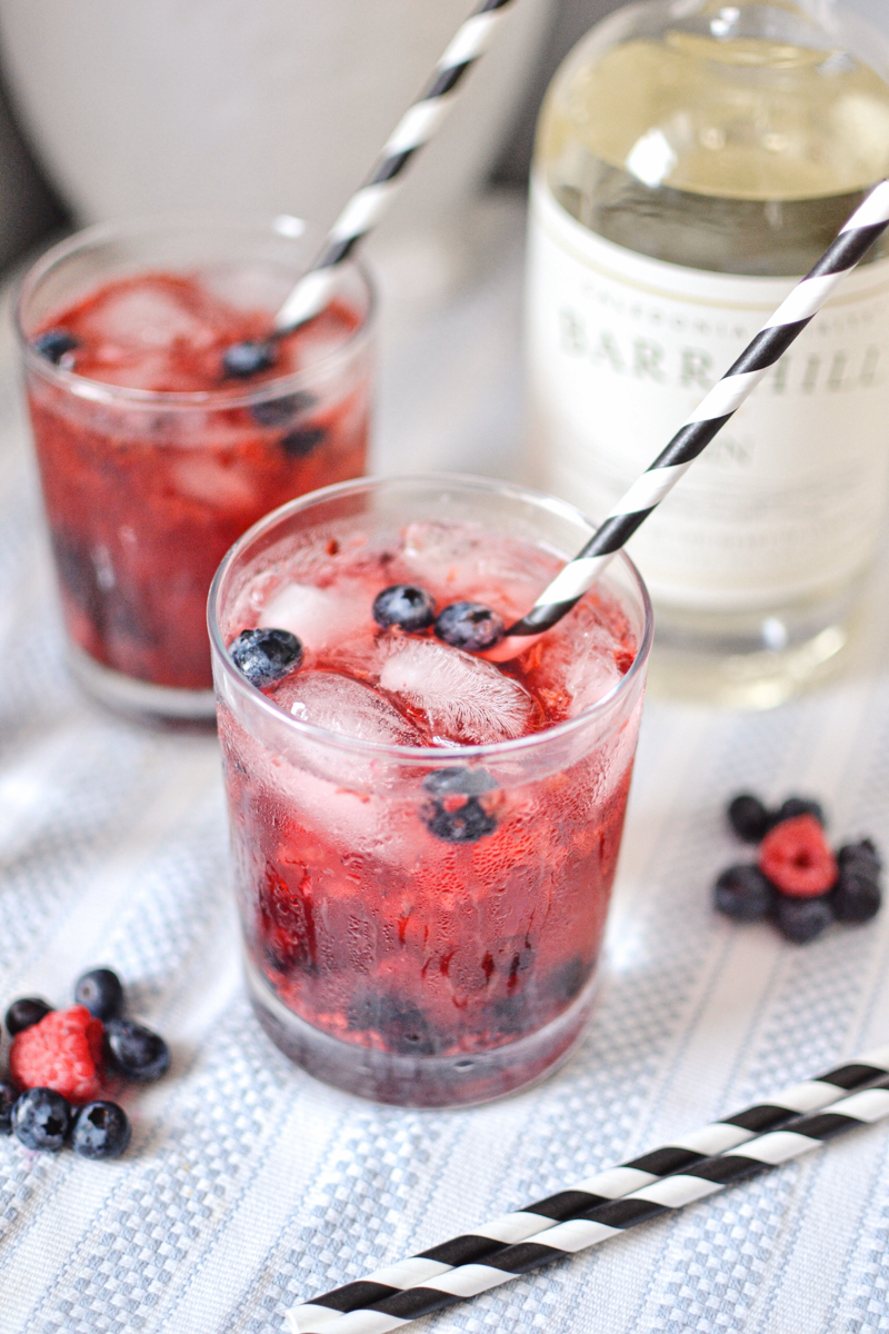 Summer Berry Gin and Tonic Cocktail Recipe